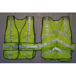 Reflective Safety Vest, Mesh, Lime