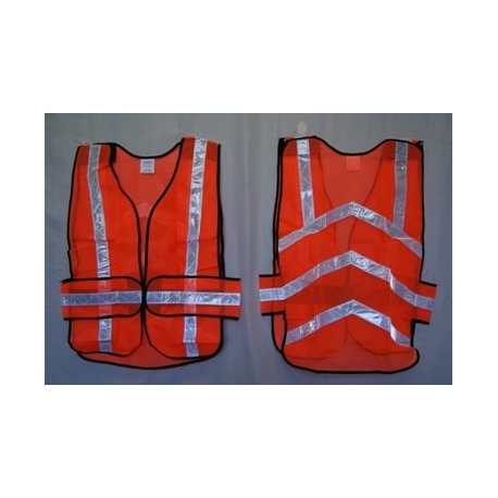 Reflective Safety Vest, Mesh, Orange