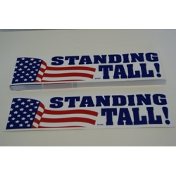 USA Standing Tall Bumper Sticker