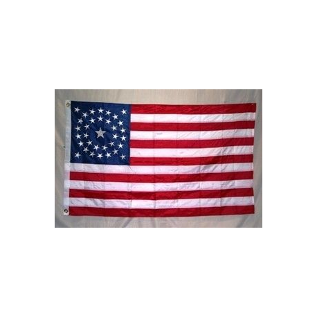 USA 34 Star Circle Pattern 3'x5' Nylon 300D Embroidered Flag