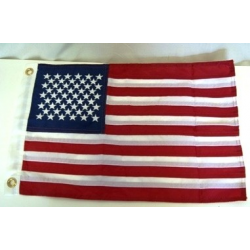 "USA 12""x18"" Cotton Embroidered Flag"