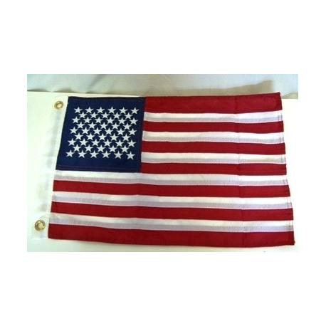 "USA 12""x18"" 2 Ply 600D Embroidered Flag"