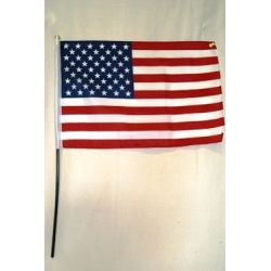 "USA 12""x18"" Plastic Stick Flag"