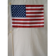 "USA 12""x18"" Wooden Stick Flag with 30"" Staff"