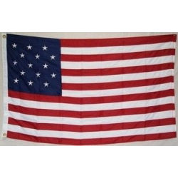 USA 15 Star 5'x8' Nylon 300D Embroidered Flag