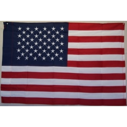 USA 2.5'x4' 2 Play 600D Flag with Sleeve