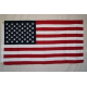 USA 2.5'x4.5' Cotton Flag with Sleeve