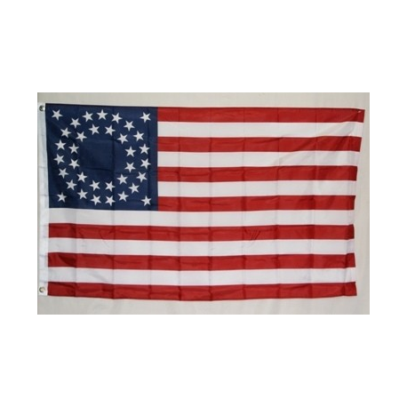 USA 35 Stars Circle Pattern (1863-1865) 3'x5' Polyester Flag