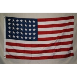 USA 35 Stars 3'x5' 2 Ply 600D Embroidered Flag