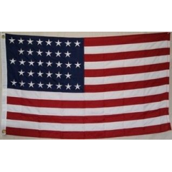 USA 36 Stars 3'x5' 2 Ply 600D Embroidered Flag