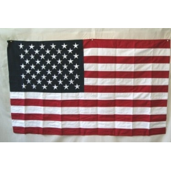 USA 3'x5' Cotton Flag with sleeve