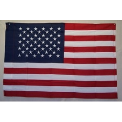 USA 3'x5' Nylon 300D Embroidered Flag with sleeve