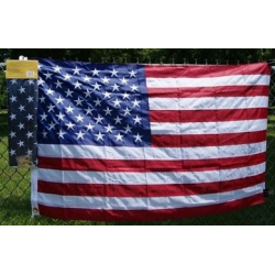 USA 3'x5' Nylon 300D Embroidered Flag