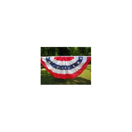 USA 3'x6' Polyester Bunting Fan
