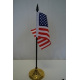 "USA 4""x6"" Stick Flag with Cut Edge and Black Spear"