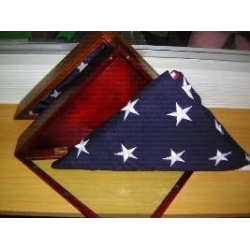 USA 5'x9.5' Ceremonial & Casket Cotton Embroidered Flag