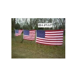 USA 6'x10' 2 Ply 600D Embroidered Flag