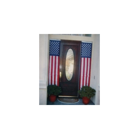 "USA '8x20"" Nylon Embroidered Banner Flag"