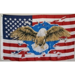 USA Eagle 3'x5' Polyester Flag