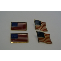 USA Waving Lapel Pin