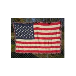 USA Woven Throw Blanket
