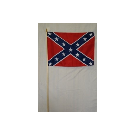 "Rebel 12""x18"" Stick Polyester Flag"