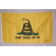 Gadsden 3'x5' Polyester Flag with Lapel Pin