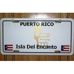 PUERTO RICO PLAIN TAG W/ 2 FLAGS