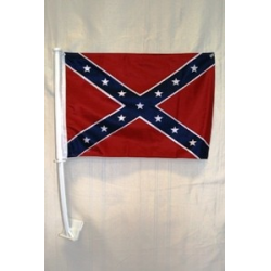 Rebel Double Sided Car Flag