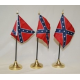 "Rebel 4""x6"" Stick Polyester Flag"