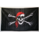 Pirate Red Hat 3'x5' Polyester Flag