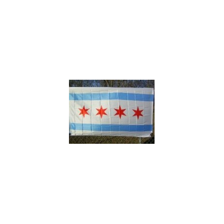 City of Chicago 3'x5' Polyester Flag
