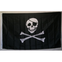 Jolly Roger Eyepatch 3'x5' Polyester Flag