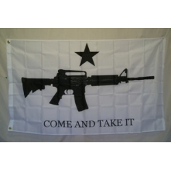 "M4 Carbine ""Come And Take It"" 3'x5' Polyester Flag"