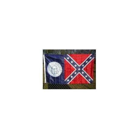 Old Georgia Battle (US) 3'x5' Double Sided Polyester Flag
