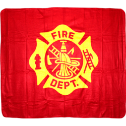 Fire Dept Polar Fleece Blanket