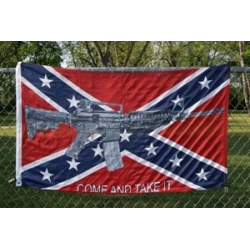 Rebel M4 Come and Take It 3'x5' Polyester Flag
