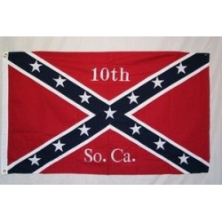 10th South Carolina Infantry 3'x5' Cotton Embroidered Flag
