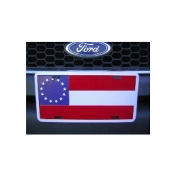 1st National 13 Stars Aluminum License Plate
