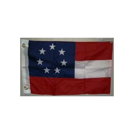 "1st National 7 Stars 12""x18"" Poly Flag"