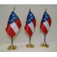 "1st National 7 Stars 4""x6"" Stick Polyester Flag"