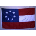 1st National 7 Stars 5'x8' Nylon 300D Embroidered Flag