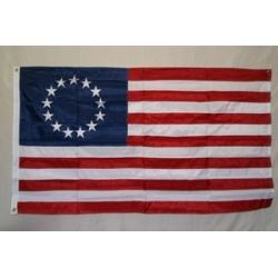 Betsy Ross 3'x5' Nylon 300D Embroidered Flag