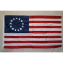 Betsy Ross 5'x8' Nylon 300D Embroidered Flag