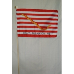 "1st Navy Jack ""Don't Tread On Me"" 12""x18"" Stick Poly"
