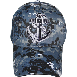 ACU Cap with Anchor- Blue
