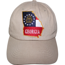 GA Map- Khaki Washed Cap