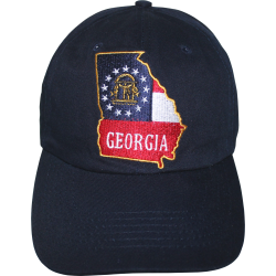 GA Map- Navy Blue Washed Cap