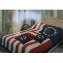 Betsy Ross Comforter with Pillow Sham, Queen Size