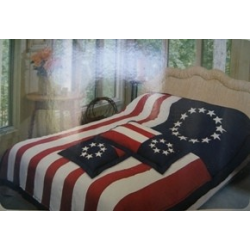 Betsy Ross Comforter with Pillow Sham, Twin Size